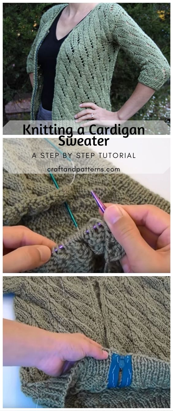 Knitting a Cardigan Sweater Tutorial