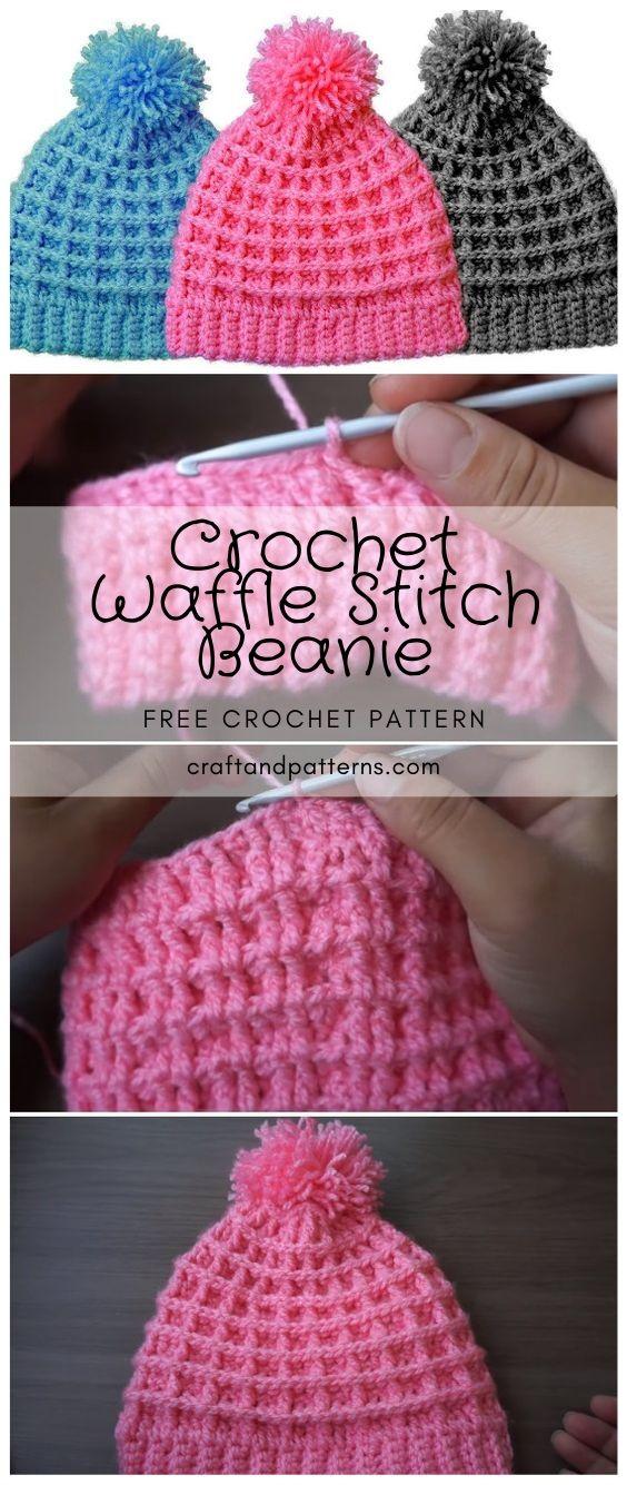 Waffle Stitch Beanie Crochet