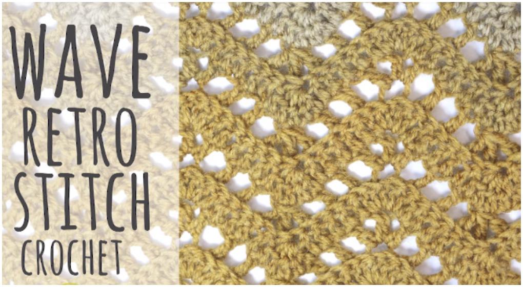 Chevron Retro Stitch Wave Crochet