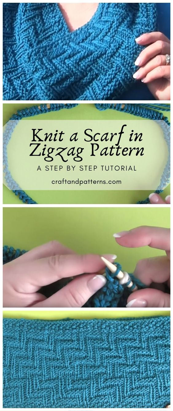 Knit Easy Zigzag Pattern Scarf