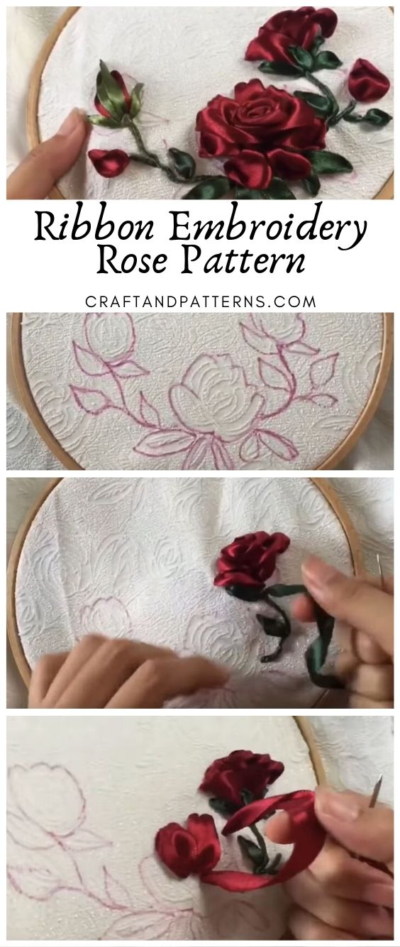 Ribbon Embroidery DIY